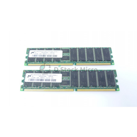 dstockmicro.com - RAM memory MICRON MT18VDDT6472G-265C3 1 GB Kit (2 x 512 Mo) 133 MHz - PC2100R (DDR-266) SDRAM DIMM